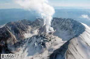 Mt St Helens Feb 25, 2005 photo by USGS